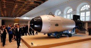 نموذج من القنبلة الهيدروجينية An-602 عرضت بموسكو عام 2015 بمناسبة مرور 70 عاما على بدء روسيا برنامجها النووي (الأوروبية)