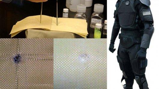 مادة سائلة مبتكرة تمنع اختراق الرصاص لجسم الانسان